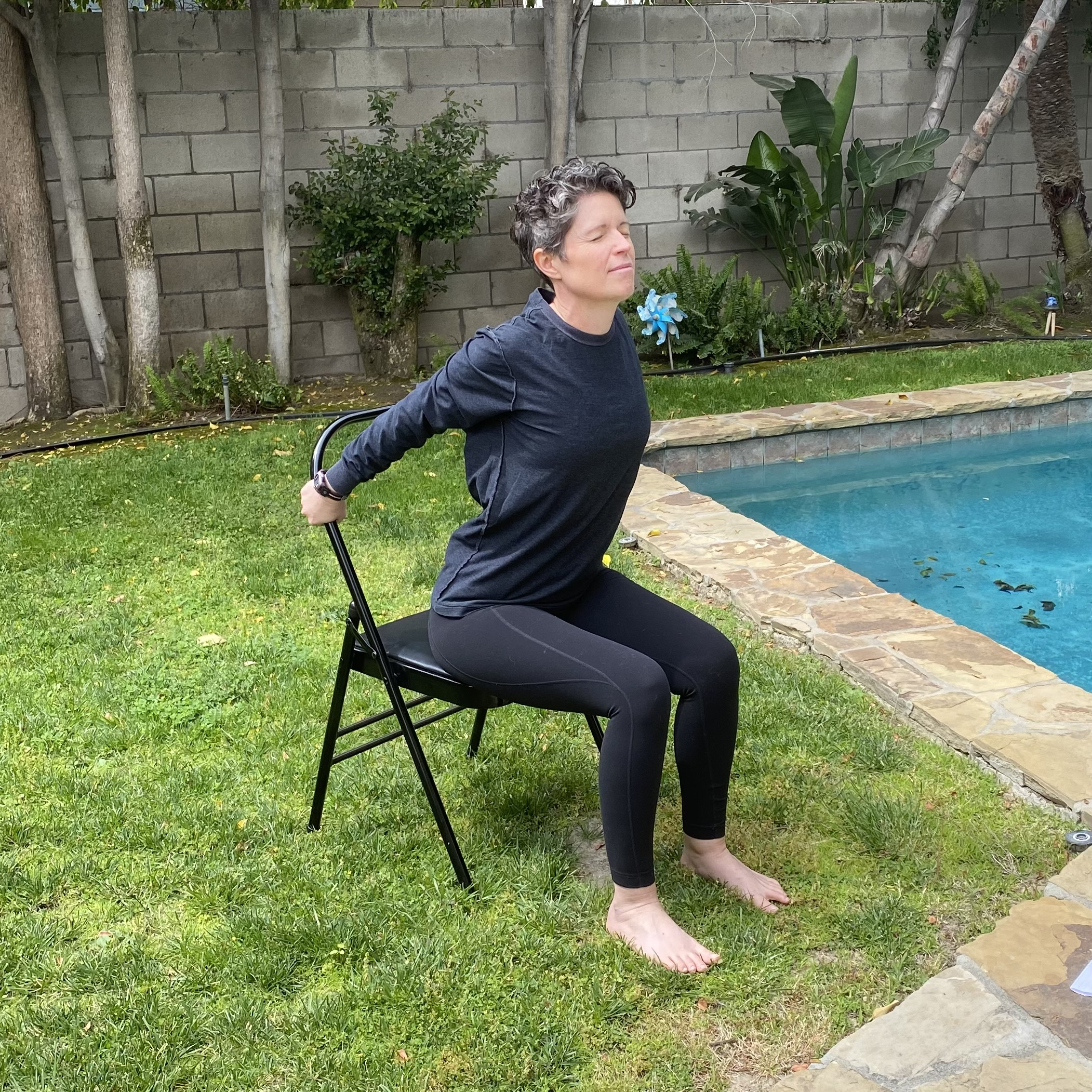 Chair Yoga Cobra Pose