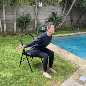 Chair Yoga Cow Pose
