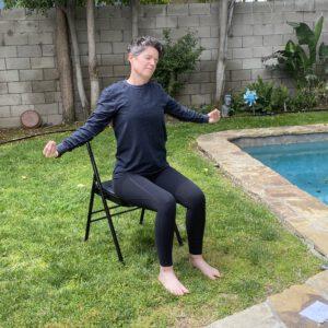 Chair Yoga Neck Stretch