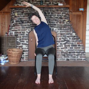 chair yoga side bend